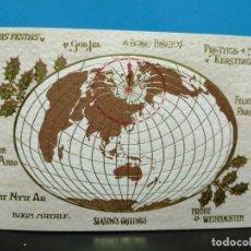 Postales: POSTAL DOBLE CON DORADOS IFABRICADA EN ITALIA SIN USAR . Lote 191323366