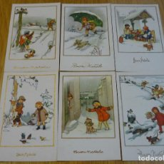 Postales: LOTE 6 POSTALES DE NAVIDAD REF. 545 - SERIE COMPLETA. Lote 191417216