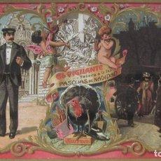 Postales: POSTAL DE NAVIDAD FINALES SIGLOXIX FELICITACION DE EL VIGILANTE. Lote 191660816