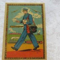 Postales: POSTAL DE NAVIDAD PRINCIPIOS SIGLO XX FELICITACION DE EL CARTERO. Lote 191660858