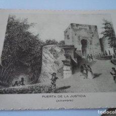 Postales: ANTIGUA FELICITACION NAVIDEÑA PUERTA DE LA JUSTICIA LA ALHAMBRA 1948. Lote 193711946