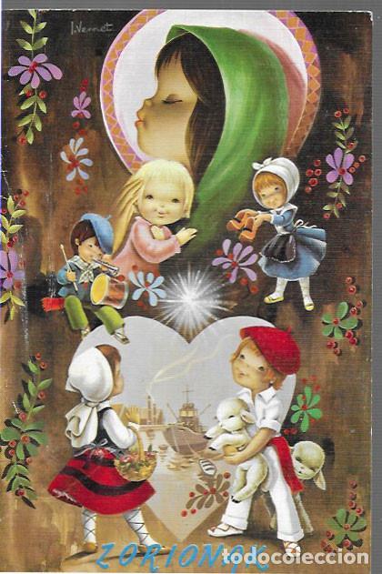 FELICITACION NAVIDAD VERNET * ZORIONAK * 1970 (Postales - Postales Temáticas - Navidad)
