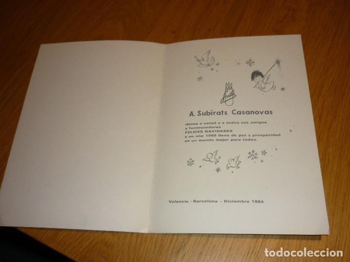 Postales: FELICITACION NAVIDAD FERRÁNDIZ DE SUBI, ILUSTRADA EN LAS 2 CARAS - DIPTICA, 22,5X16 CM - AÑO 1964 - Foto 2 - 194183436