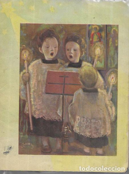 Postales: FELICITACION NAVIDAD ZANBRINO - DÍPTICO AÑO 1957 - Foto 2 - 194191222