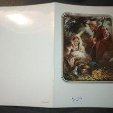 Postales: HAGA SU OFERTA ANTIGUO CHRISTMA FELICITACIONES DE NAVIDAD TARJETA NAVIDEÑA BELEN NACIMIENTO. Lote 194251772