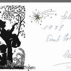 Postales: TARJETA NAVIDAD FERRÁNDIZ * PASTORES MÚSICOS EN EL ARBOL * 1977. Lote 194263996
