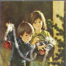 Postales: FELICITACION NAVIDAD * NIÑOS ADORNANDO EL ARBOL * ANCORA 1974. Lote 194281108