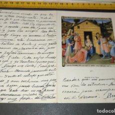 Postales: HAGA SU OFERTA ANTIGUO CHRISTMA FELICITACIONES DE NAVIDAD TARJETA NAVIDEÑA BELEN NACIMIENTO. Lote 194354035