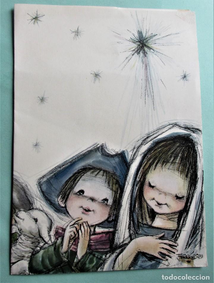 MARCAPAGINAS DE NAVIDAD DE FERRANDIZ (Postales - Postales Temáticas - Navidad)