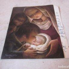 Postales: FELICITACION GRANDE ESCRITA NAVIDAD AÑO 1962. Lote 194360312