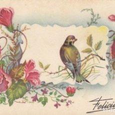 Postales: POSTAL DE FELICITACIÓN. EDITA. PABLO DÜMMATXEN. ESCRITA.. Lote 194502827