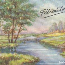 Postales: POSTAL DE FELICITACION. IMPRESA EN ESPAÑA. ESCRITA.. Lote 194503205