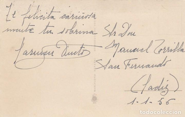 Postales: Postal de felicitacion. Impresa en España. Escrita. - Foto 2 - 194503205