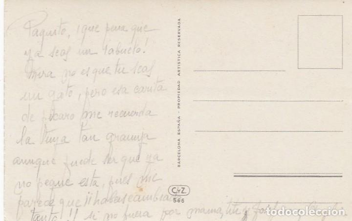 Postales: Postal ilustrada de felicitación. Gato, gatito. Edita: C y Z. Escrita. - Foto 2 - 194510122