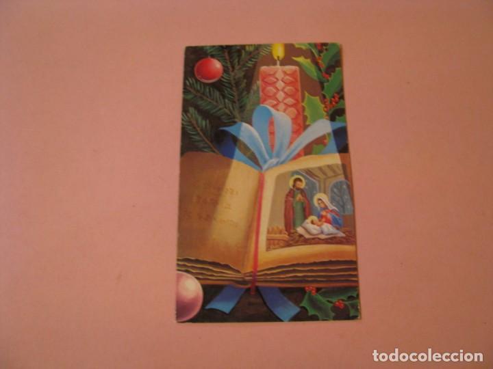 POSTAL DIPTICA DE NAVIDAD. ED. JBR. ESCRITA. 1978. 13X7,5 CM. (Postales - Postales Temáticas - Navidad)