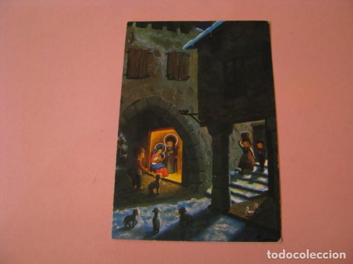 POSTAL DIPTICA DE NAVIDAD. ED. REINO UNIDO. ESCRITA. 14X9,5 CM. (Postales - Postales Temáticas - Navidad)