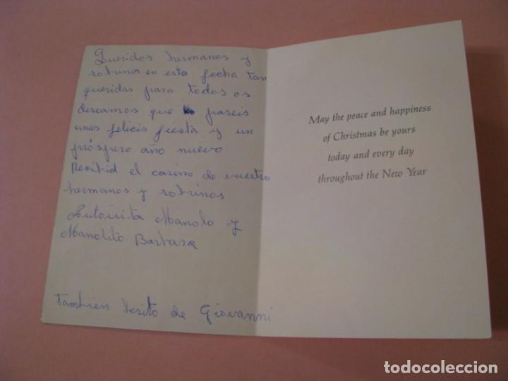 Postales: POSTAL DIPTICA DE NAVIDAD. ED. REINO UNIDO. ESCRITA. 14X9,5 CM. - Foto 2 - 194522697