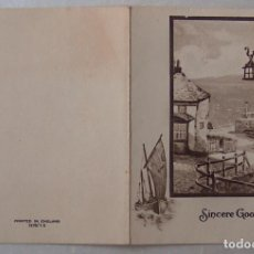 Postales: POSTAL NAVIDAD INGLESA, CHRISTMAS, SINCERE GOOD WISHES. Lote 194540045