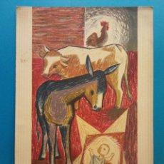 Postais: TARJETA NAVIDEÑA. ANIMALES Y EL NIÑO. SIN USAR. Lote 194593463