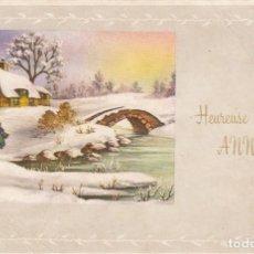 Postales: TARJETA POSTAL DE FELICITACIÓN.FRANCIA. ESCRITA.. Lote 194624603