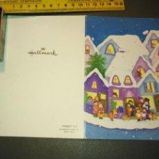 Postales: HAGA SU OFERTA ANTIGUO CHRISTMA FELICITACIONES DE NAVIDAD TARJETA NAVIDEÑA BELEN NACIMIENTO . Lote 194644457