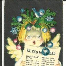 Postales: TARJETA NAVIDAD *FERRÁNDIZ* - EL ECO DE NAVIDAD - 10,8X5,4 CM. Lote 194977127