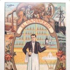 Postales: EL CAMARERO FELICITA A V. LAS PASCUAS DE NAVIDAD. E. ANTALBE. NUEVA. COLOR. Lote 194985678