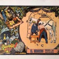 Postales: EL HERRERO FELICITA LAS NAVIDADES. E. ANTALBE. NUEVA. COLOR. Lote 194985696