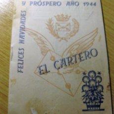 Postales: FELICITACION NAVIDAD EL CARTERO AÑO 1944 LIBRITO TARIFAS POSTALES OFICINA CORREOS MATARO. Lote 195054791