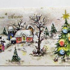 Postales: FELICITACION DE NAVIDAD ESCRITA AÑO 1956 - ITALIA. Lote 195095910