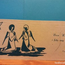 Postales: ANGELES. BON NADAL, 1959. HERMOSA FELICITACIÓN NAVIDEÑA. . Lote 195199370