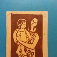 Postales: MUJER Y NIÑO. BONES FESTES. HERMOSA FELICITACIÓN NAVIDEÑA. Lote 195210737