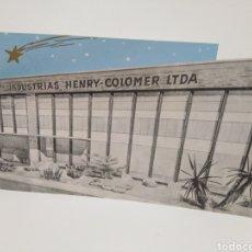 Postales: FELICITACIÓN NAVIDAD TROQUELADA HENRY COLOMER DATA 1959. Lote 195231418