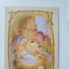 Postales: FELICITACIÓN NAVIDAD PESEBRE MARTA RIBAS BUSQUETS. Lote 195232466