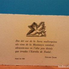 Postales: GUILLEM COLOM. NADAL DE 1949. HERMOSA FELICITACIÓN NAVIDEÑA. Lote 195251393