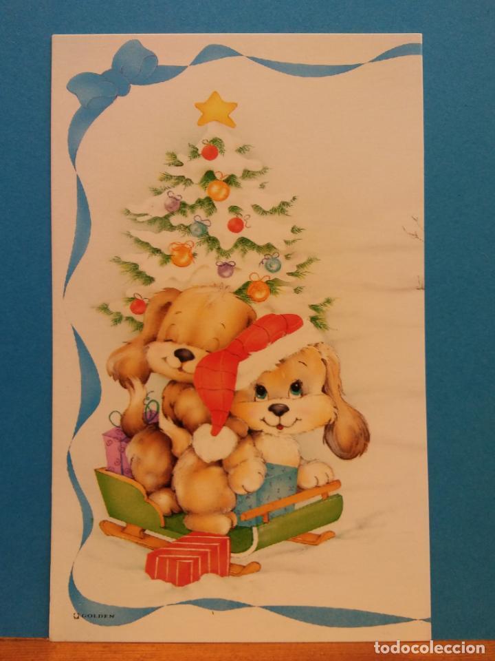 MUÑECOS EN NAVIDAD. BONITA POSTAL. SIN USAR (Postales - Postales Temáticas - Navidad)