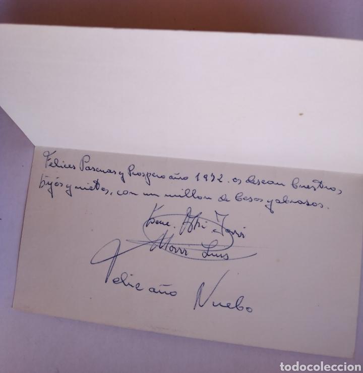 Postales: Tarjeta diptico felicitación Navidad ilustra Vernet 1972 / 8 x 15 cm - Foto 2 - 195359160
