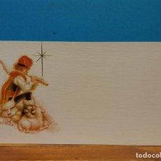 Postales: PASTOR EN NAVIDAD. FERRANDIZ. HERMOSA TARJETA. COMPLETAMENTE NUEVA. Lote 195475487