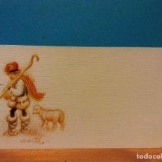 Postales: PASTOR EN NAVIDAD. FERRANDIZ. HERMOSA TARJETA. COMPLETAMENTE NUEVA. Lote 195475923