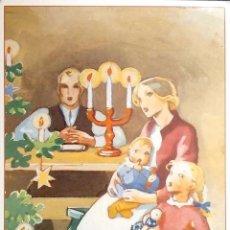 Postales: ESTAMPA NAVIDEÑA DE UNA FAMILIA. POSTAL CORREOS FINLANDIA. NUEVA.. Lote 195531863