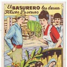 Postales: FELICITACIÓN EL BASURERO . Lote 196724637