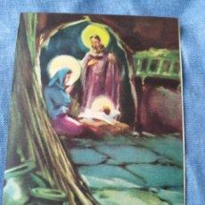 Postales: POSTAL NAVIDEÑA TARGETA DE NAVIDAD .ESCRITA INVITACION PESEBRE HOSPITAL SAN JUAN DIOS. Lote 197091551