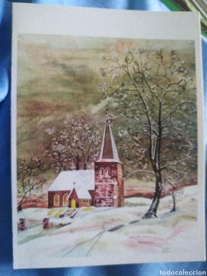 POSTAL NAVIDAD TARGETA FELICITACION NAVIDEÑA. ANTIGUA.ESCRITA 1968 (Postales - Postales Temáticas - Navidad)