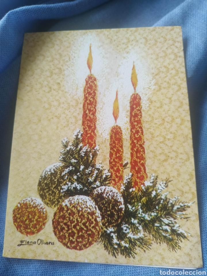 POSTAL NAVIDAD TARGETA FELICITACION NAVIDEÑA. ANTIGUA. ELENA OLIVERA 1974 CENTRO (Postales - Postales Temáticas - Navidad)