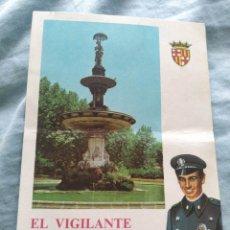 Postales: POSTAL NAVIDAD TARGETA FELICITACION NAVIDEÑA. EL VIGILANTE DESEA FELICES NAVIDADES POLICIA. Lote 197518388