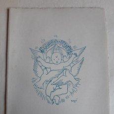 Postales: BONITA POSTAL DE NAVIDAD. DIBUJO ORIGINAL DE FRANCESC GASSO. DIPTICO.FELICITACION PILAR RUFI 1953. Lote 197733951