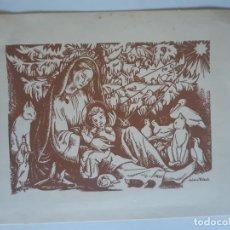 Cartes Postales: BONITA POSTAL DE NAVIDAD. DE COLECCION. DIPTICO. NURIA RIBOT, ESCRITA. Lote 197750782