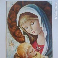 Cartes Postales: BONITA POSTAL DE NAVIDAD. DE COLECCION. DIPTICO.ESCRITA. Lote 197767890