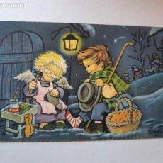 Cartes Postales: BONITA POSTAL DE NAVIDAD. UNA PAGINA , DE COLECCION, MUY CURIOSA. ESCRITA, FERRANDIZ. Lote 197896423