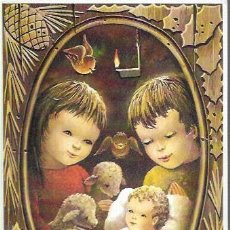 Postales: FELICITACION NAVIDAD JOAN * NIÑOS ADORANDO A JESÚS * JBR 1971 (16,50 X 11,50). Lote 198497552